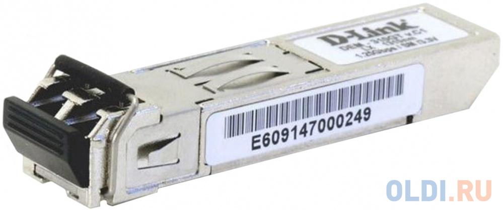 Фото - D-Link 310GT/A1A SFP-трансивер с 1 портом 1000Base-LX для одномодового оптического кабеля (до 10 км) d link 211 a1a sfp трансивер с 1 портом 100base fx для многомодового оптического кабеля до 2 км