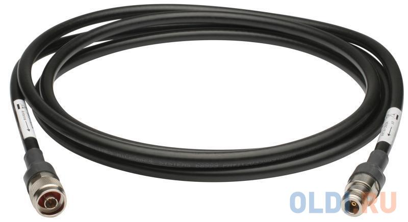 Удлинитель антенны D-Link ANT24-CB03N/C1A Кабельный удлинитель длиной 3 м с разъемами N Plug / N Jack для антенны