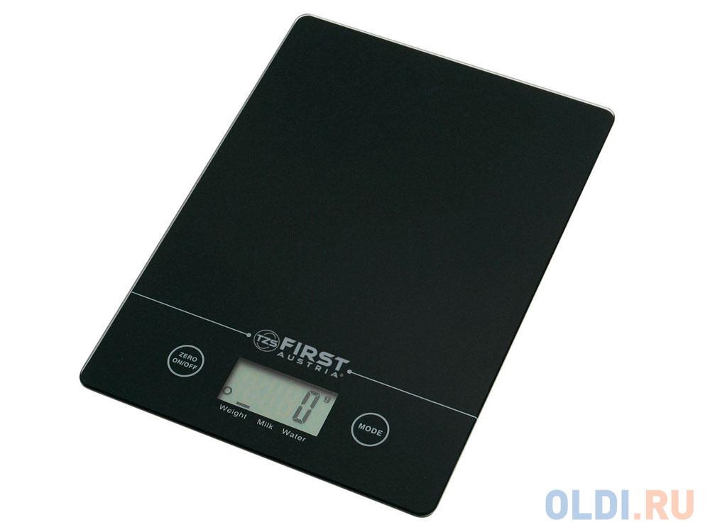 Весы кухонные First 6400 серебристый чёрный