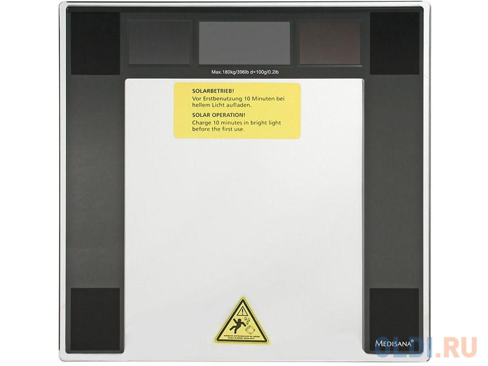 Весы напольные Medisana 40470 PSS чёрный весы напольные medisana 40470 pss