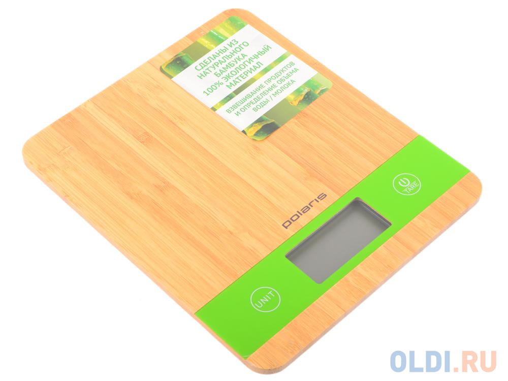 Весы кухонные Polaris PKS 0545D Bamboo кухонные весы polaris pks 1057dg fruits