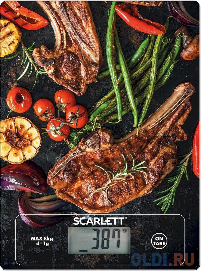 Весы кухонные Scarlett SC-KS57P39 рисунок