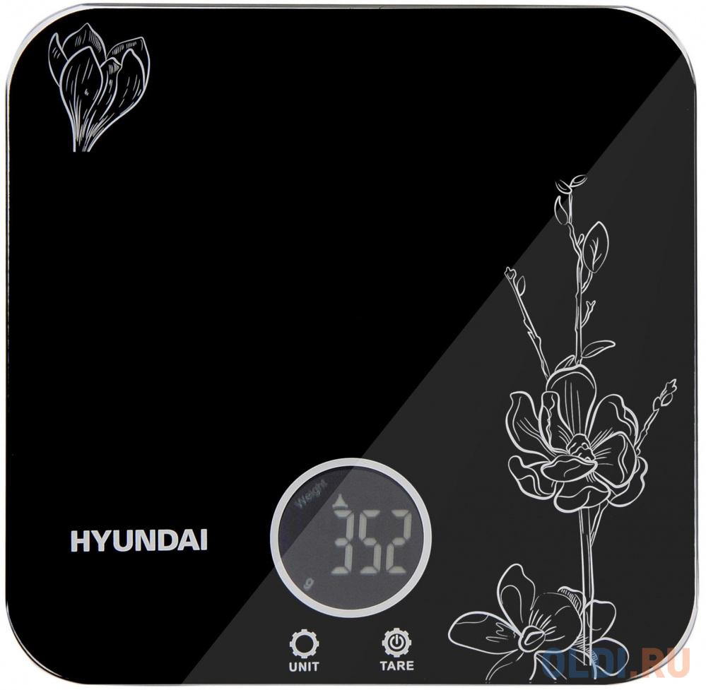Весы кухонные Hyundai HYS-KG421 чёрный