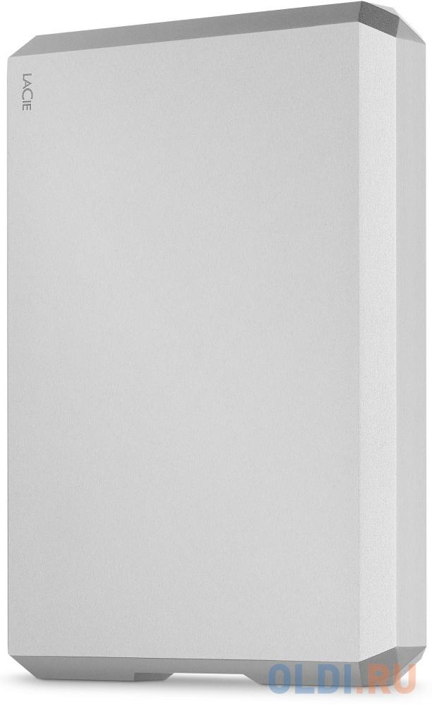 Накопитель на жестком магнитном диске LaCie Внешний жесткий диск LaCie STHG5000400 5TB LaCie Mobile Drive 2.5 USB 3.1 TYPE C Moon Silver