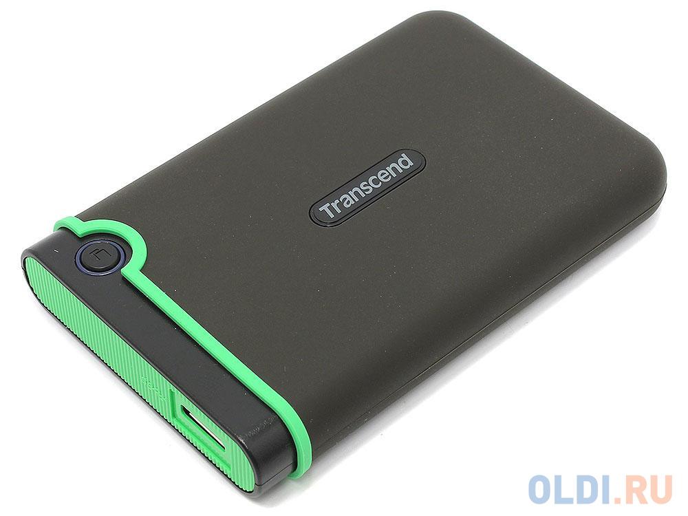 Внешний жесткий диск 500Gb Transcend StoreJet 25M3S, 500 Гб, USB 3.1, стальной серый (тонкий) (TS500GSJ25M3S)