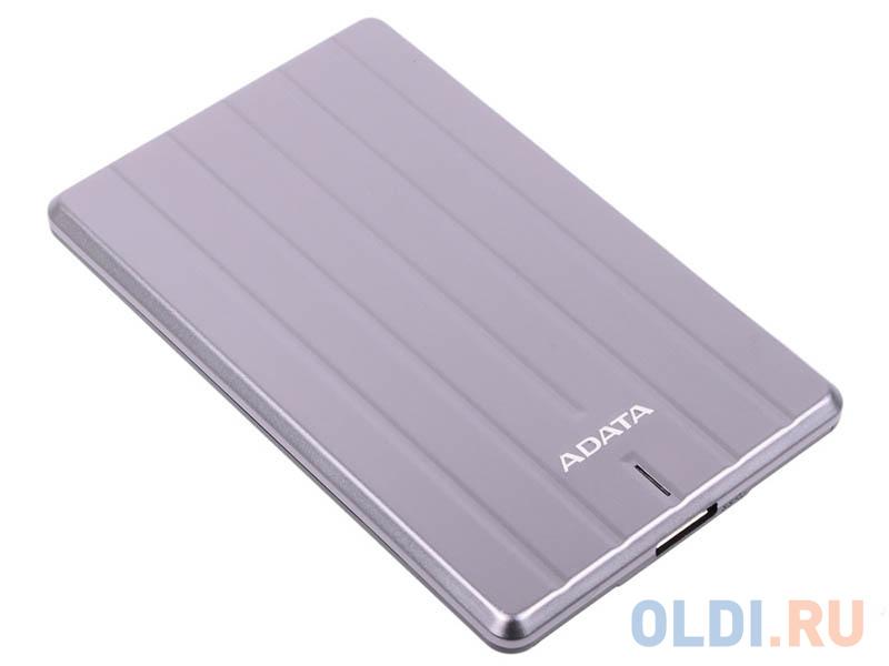 Внешний жесткий диск 1Tb Adata USB 3.1 AHC660-1TU31-CGY металл. корпус (9.6мм), цвет титановый