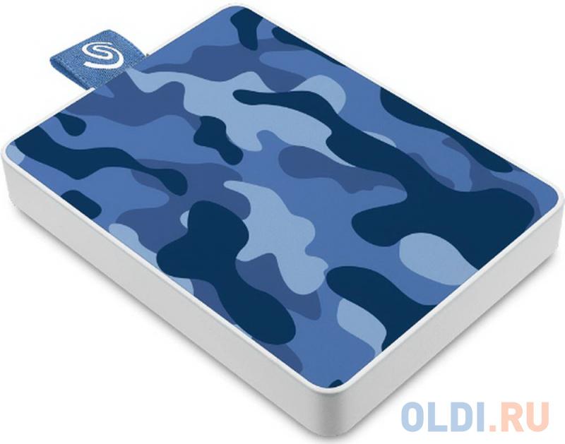 Фото - Внешний SSD Seagate One Touch 500Gb камуфляж синий внешний ssd seagate one touch 500 гб черный