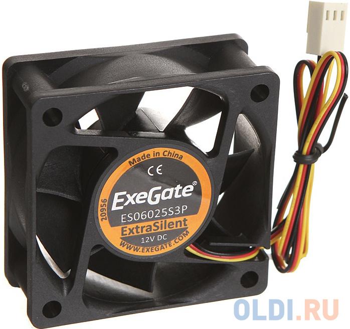 Exegate EX283370RUS Вентилятор ExeGate ExtraSilent ES06025S3P 60x60x25 мм подшипник скольжения 3pin 2500RPM 22dBA.