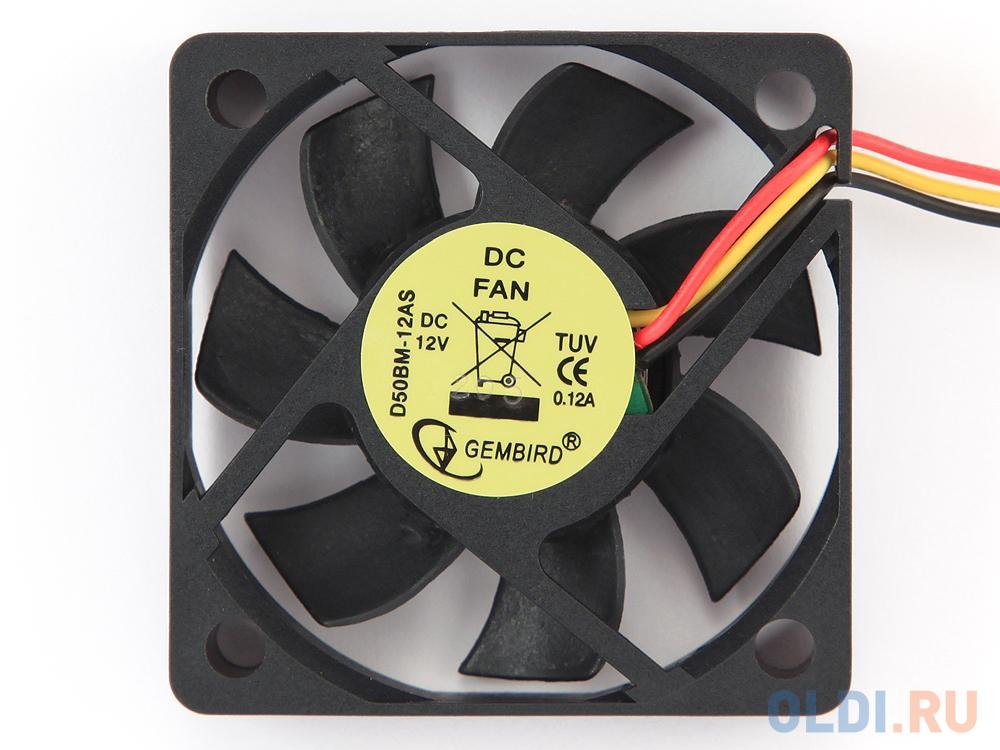 Вентилятор Gembird 50mm 4500rpm D50BM-12AS вентилятор для корпуса gembird d50sm 12as
