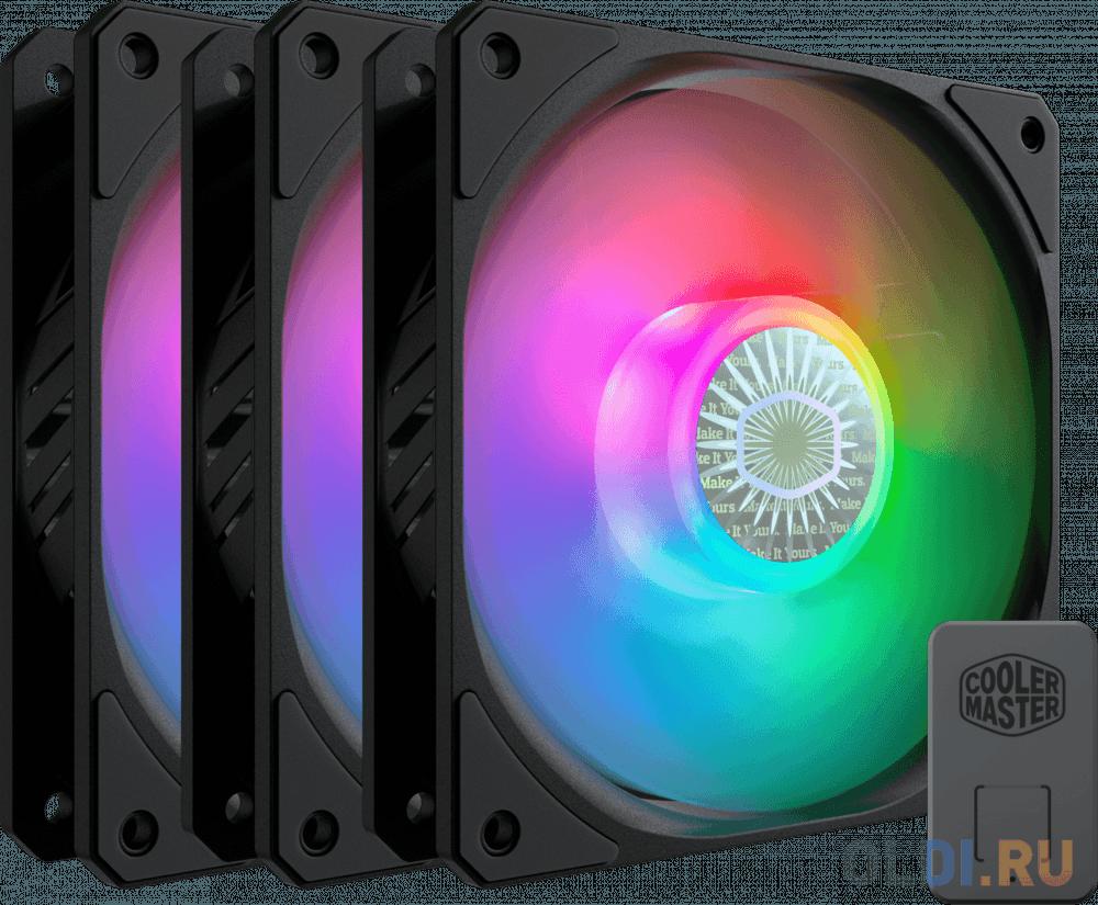 Cooler Master MASTERFAN SICKLEFLOW, 120mm, 4-Pin (PWM), ARGB, 3 pcs + ARGB Controller вентилятор cooler master masterfan sf240r argb 2x120mm argb mfx b2d2 18npa r1