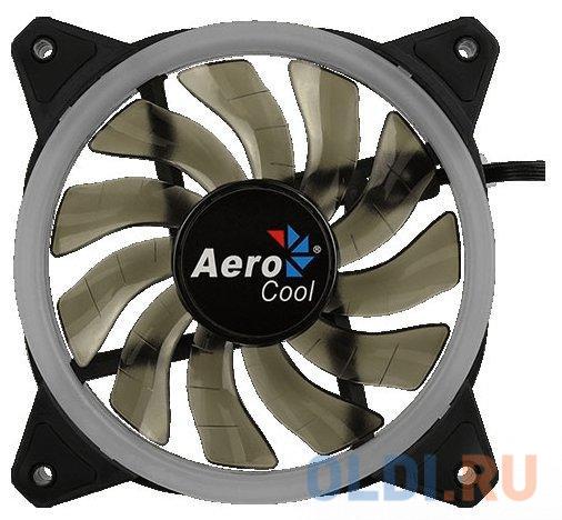 Вентилятор Aerocool REV RGB , 120x120x25мм, 16,8 млн. цветов, RGB подсветка в виде двойного кольца, 3-Pin, 1200 об/мин, 41,3 CFM, 15,1 дБА вентилятор aerocool rev rgb 120мм ret