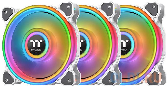 Fan Tt Premium Riing Quad 12 RGB White (3 Pack) [CL-F100-PL12SW-A] / PWM / LED водяное охлаждение thermaltake floe riing rgb 280 tt premium edition cl w167 pl14sw a
