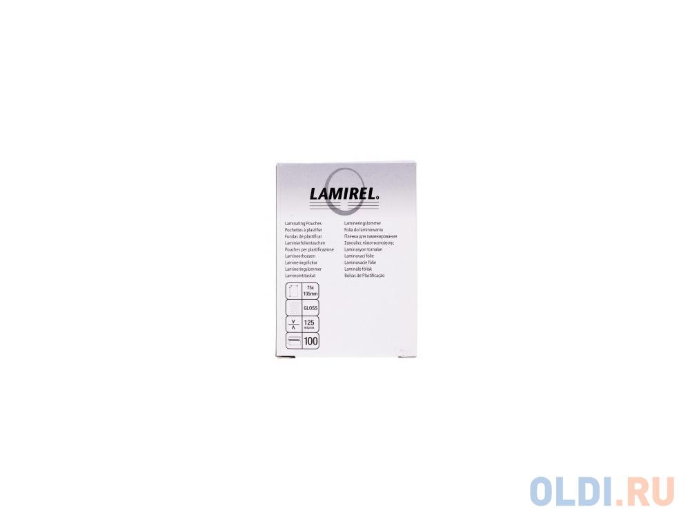 Фото - Пленка для ламинирования Lamirel 75x105мм, 125мкм, 100 шт. 125 135