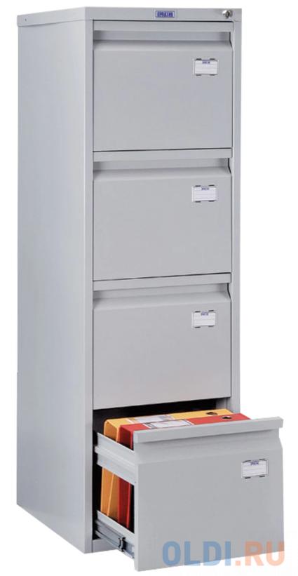 Шкаф картотечный ПРАКТИК A-44 1305х408х485 мм, 4 ящика для 168 подвесных папок, формат папок A4 (БЕЗ ПАПОК) александра суслина пять папок наугад reckoner книга вторая