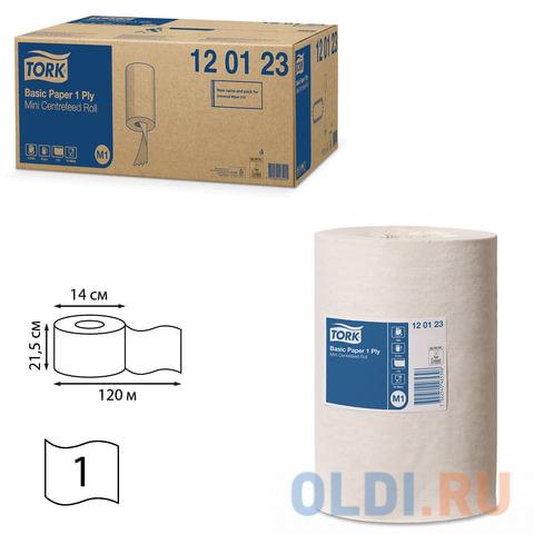 Полотенца бумажные с центральной вытяжкой мини TORK (Система M1), комплект 11 шт., Universal, 120 м, белые, 120123 протирочная бумага tork плюс с центральной вытяжкой 2 слоя 125 м коробка 6 шт