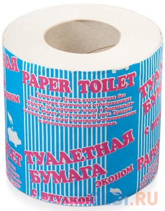 Бумага туалетная бытовая, 32 м, на втулке (эконом)