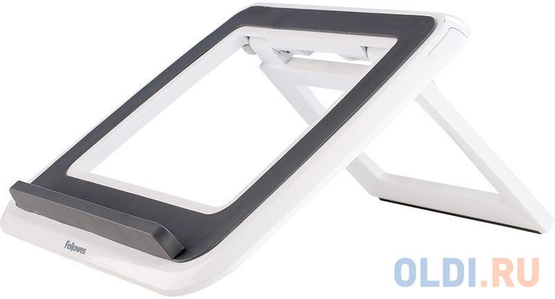 Fellowes® I-Spire Series™, Подставка для ноутбука до 17 с регулировкой высоты, белая/серая, шт