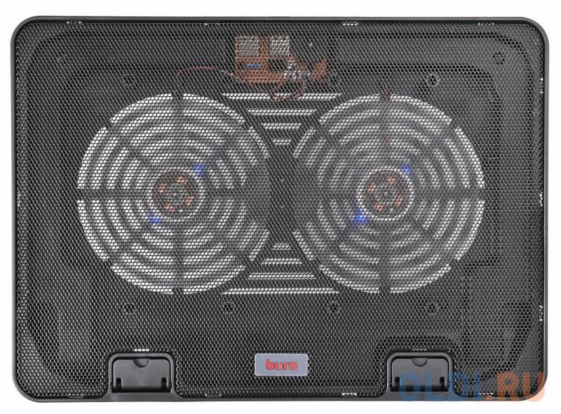 """Подставка для ноутбука 15.6"""" Buro BU-LCP156-B214H металл/пластик 1400об/мин 21db черный"""