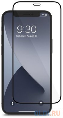 Защитное стекло Moshi AirFoil Pro для iPhone 12 mini 99MO044911 черная рамка