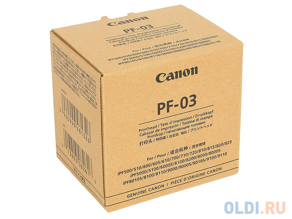Печатающая головка Canon PF-03 для iPF 510/605/610/815/825/5100. печатающая головка canon printhead pf 04 3630b001