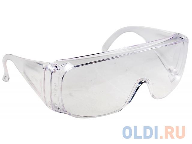 Очки СИБРТЕХ 89155 защитные открытого типа прозрачные ударопрочный поликарбонат недорого