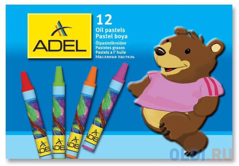 Мелки пастельные Adel ADELAND круглые 12 штук 12 цветов от 3 лет 228-0831-000