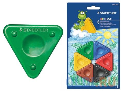 Восковые мелки Staedtler Noris Club 6 штук 6 цветов фото