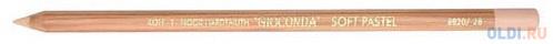 Мелок художественный в деревянном корпусе, светло-оранжевый фото