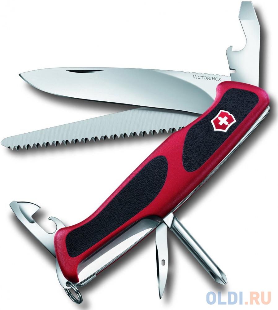 Нож перочинный Victorinox RangerGrip 55 0.9563.C 130мм 12 функций красно-чёрный