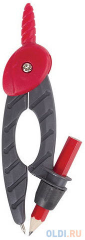 Циркуль ПИФАГОР пластиковый с карандашом, 120 мм, чехол, 210652 фото