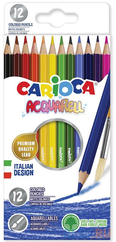Набор цветных карандашей CARIOCA Acquarell 12 шт фото