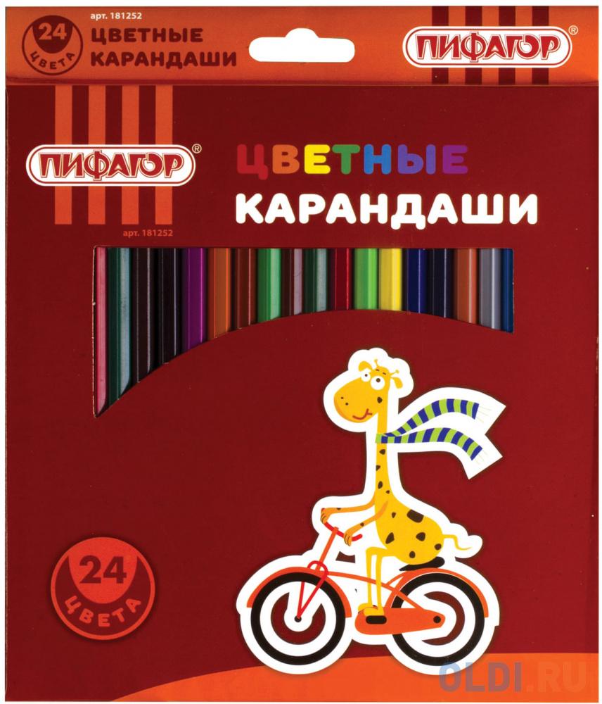 Набор цветных карандашей ПИФАГОР