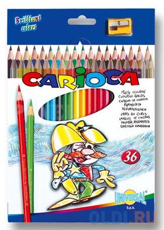 Набор цветных карандашей Universal Carioca 36 шт 41875 + точилка
