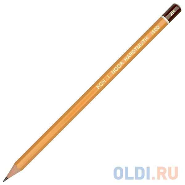 Карандаш чернографитный Koh-i-Noor 1500 2H деревянный лакированный корпус 1500 2H карандаш чернографитный koh i noor 1500 5h деревянный лакированный корпус 1500 5h