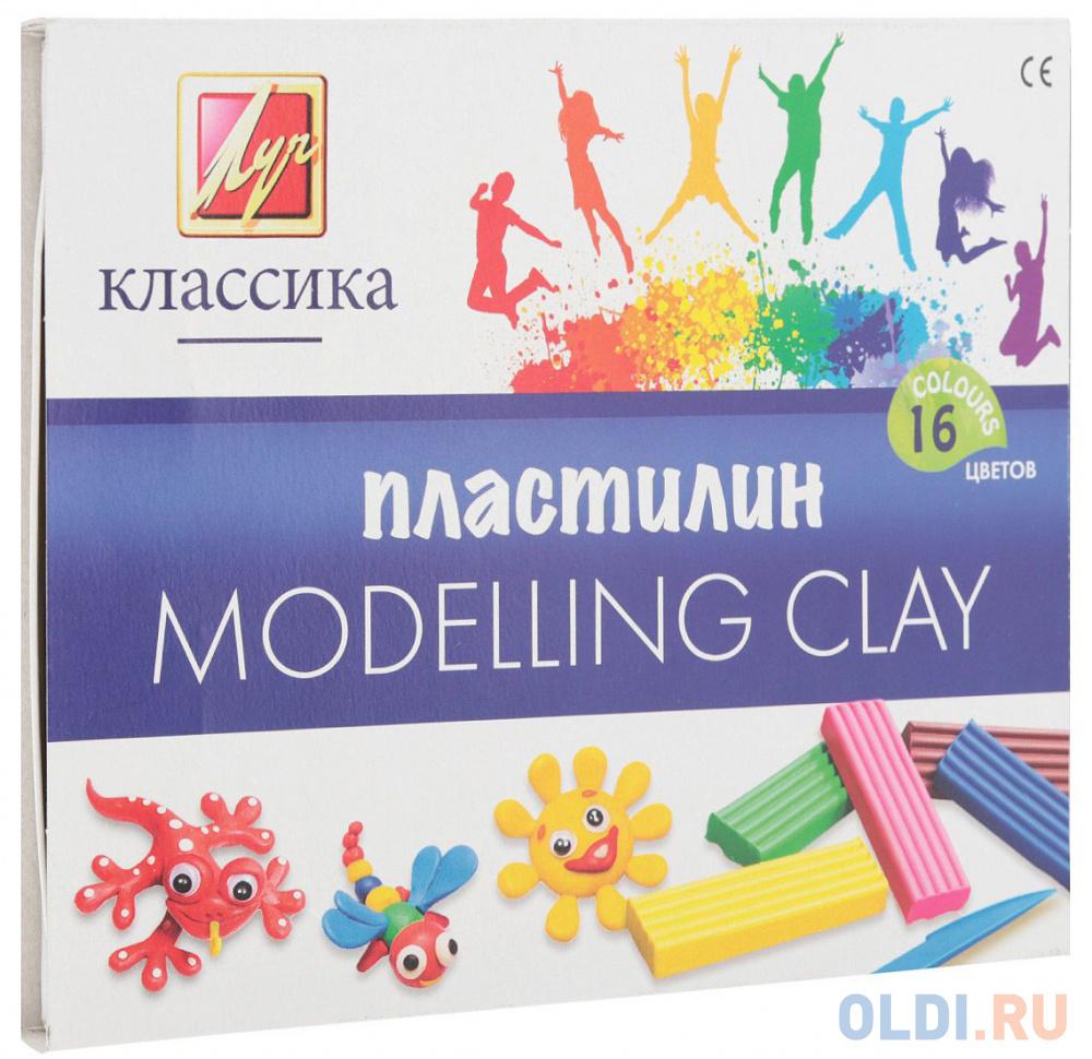Набор пластилина Луч Классика 16 цветов 20С1329-08 со стеком набор пластилина луч классика 6 цветов 12с878 08 со стеком