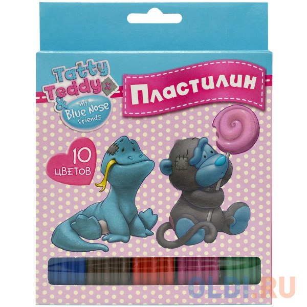 Пластилин Action! TATTY TEDDY 10 цветов BNF-AMC10-200 пластилин action hello kitty 10 цветов hko amc10 200 2