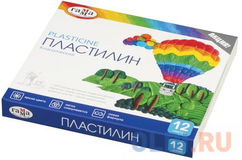 Набор пластилина Гамма Классический 12 цветов.