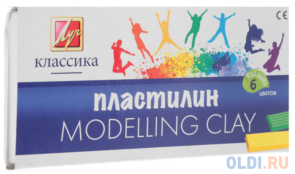 Набор пластилина Луч Классика 6 цветов 12С878-08 со стеком набор пластилина луч классика 6 цветов 12с878 08 со стеком