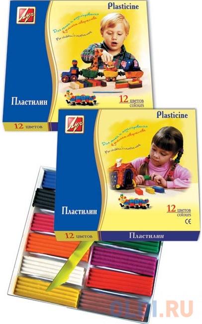 Пластилин КЛАССИКА со стеком, 12 цв., карт уп., 240 г 7С331-08* набор пластилина луч классика 6 цветов 12с878 08 со стеком