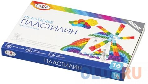 Набор пластилина Гамма Классический 16 цветов.