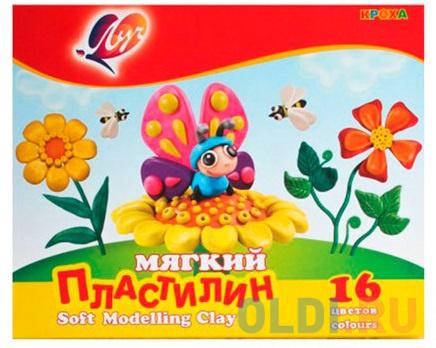 Набор пластилина ЛУЧ Кроха 16 цветов набор пластилина луч классика 6 цветов 12с878 08 со стеком