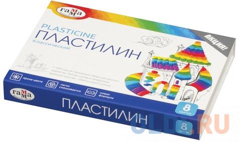 Набор пластилина Гамма Классический 8 цветов.