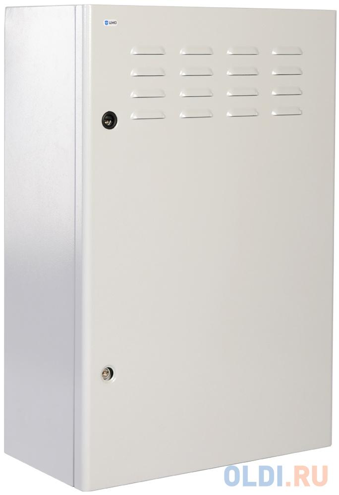 Шкаф настенный 9U ЦМО ШТВ-Н-9.6.5-4ААА 600x530mm пер.дв.стал.лист несъемные бок.пан. серый