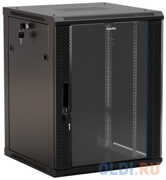 Шкаф настенный Hyperline TWB-0645-GP-RAL9004 19-дюймовый (19