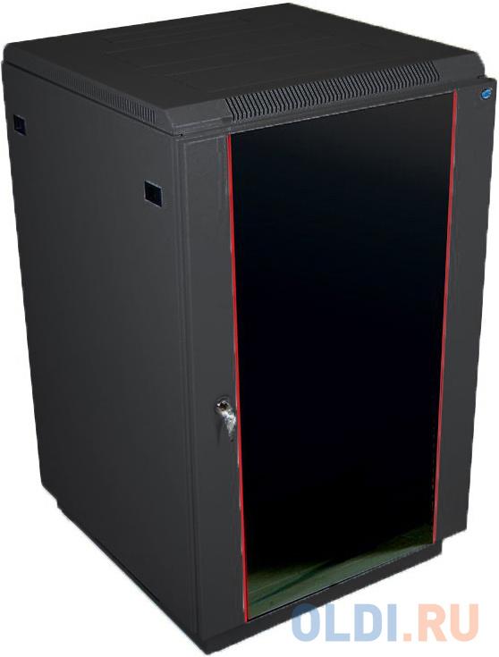 ЦМО Шкаф телекоммуникационный напольный 22U (600x600) дверь стекло, цвет чёрный (ШТК-М-22.6.6-1ААА-9005) (2 места)