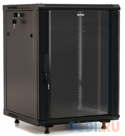 Hyperline TWB-1566-GP-RAL9004 Шкаф настенный 19-дюймовый (19