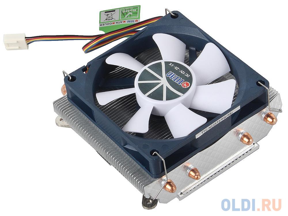 Кулер TITAN TTC-NC25TZ/PW(RB) до 130W, для INTEL LGA 775/1150/1155/1156/1366, для AMD K8/AM2/AM2+/AM3/AM3+/FM1/FM2