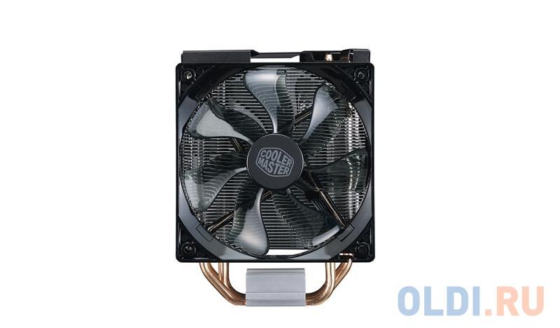 Фото - Кулер для процессора Cooler Master CPU Cooler Hyper 212 Turbo Black LED, 600 - 1600 RPM, 150W, Full Socket Support / RR-212TK-16PR-R1 / кулер для процессора cooler master hyper 212 spectrum rr 212a 20pd r1