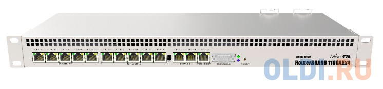 Маршрутизатор Mikrotik RB1100AHx4 Dude edition 13x10/100/1000 Mbps RB1100Dx4.