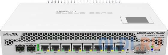Маршрутизатор MikroTik CCR1009-7G-1C-1S+PC Cloud Core Router 1009-7G-1C-1S+PC with Tilera Tile-Gx9 CPU (9-cores, 1Ghz per core), 2GB RAM, 7xGbit LAN,